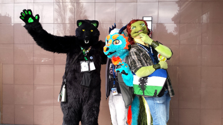 Image: Bearpaw the Wolf, Calder the Dragon and Tanner the Lizard. / Photo by Daniel Chai