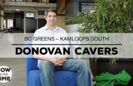 BC Greens Donovan Cavers