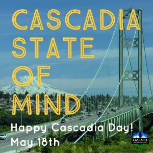 Tacoma Narrows Bridge promoting Cascadia Day