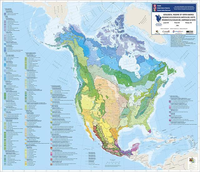 Cascadia North America Ecoregion Map