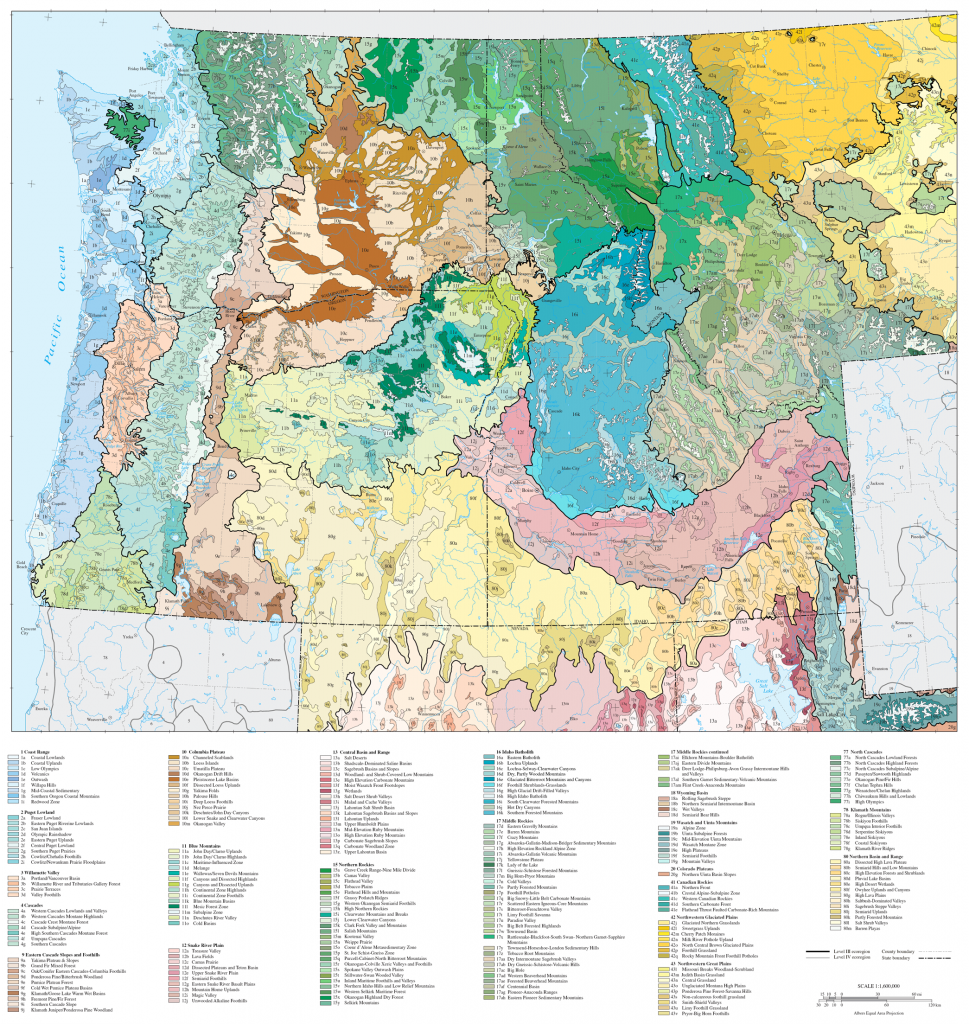 US Cascadia Ecoregions Map